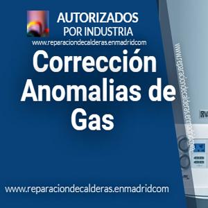 Corrección de anomalias de gas Natural
